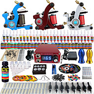 Solong Tattoo Complete Beginner Tattoo Kit 3 Pro Machines 54 Inks Power Supply Needle Grips Tips TKC02