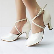 Sapatos de Dança ( Roxo / Branco ) - Feminino - Personalizável - Latina / Jazz / Moderna / Salsa / Samba / Sapatos de Swing