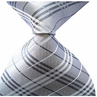 New Gray Cross Strip Classic Formal Men's Tie Necktie Wedding Party Gift