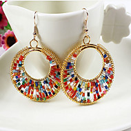 May Polly  European and American fashion retro color handmade beads earrings