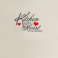 la cocina es el corazón de la etiqueta de la pared cotización casa zy8191 adesivo de parede etiqueta de la pared de vinilo removible