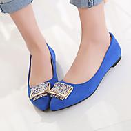 נעלי נשים - שטוחות - דמוי עור - שפיץ - שחור / כחול / אדום - שטח / משרד ועבודה / קז'ואל - עקב שטוח