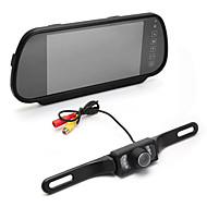 "7"" Tft Lcd Wide Screen Car Rear View Backup Parking Mirror Monitor + Led Camera"