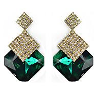 Cute / Casual Alloy / Gemstone & Crystal Drop Earrings