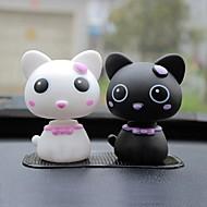 ziqiao autó szép fej macska dísz figurák autóipari beltéri termékek