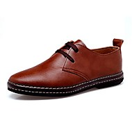 Men's Shoes Libo New Fashion Hot Sale Office & Career / Casual Leather Comfort Oxfords Black / Brown / Yellow / Khaki