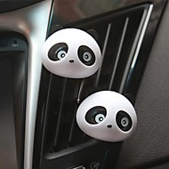 ziqiao 1 paar mooie panda smaak auto luchtverfrisser diffuser outlet magie leveringen parfum