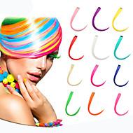 dlouhý syntetický rovně a klip na prodlužování vlasů s 1 klipy 14 barevných