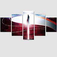 Pessoas / Fantasia / Moderno Impressão em tela 5 Painéis Pronto para pendurar , Horizontal