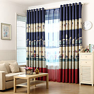 Two Panels Royal Guard Blackout Printing Curtain
