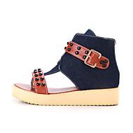 נעלי נשים - סנדלים - ג'ינס - חדשני / מגפי אופנה - כחול - שמלה / קז'ואל - עקב וודג'