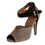 Sapatos de Dança ( Preto / Azul / Verde / Vermelho / Cinza ) - Feminino - Personalizável - Latina / Salsa / Samba