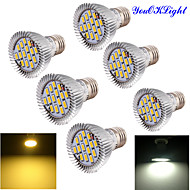 YouOKLight® 6PCS E27 7W 700lm 15*SMD5630 High quality LED Spotlight (AC100-120V/220-240V/85-265V)