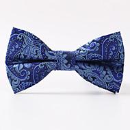 עניבת פרפר - דוגמא ( כחול כהה , פוליאסטר )