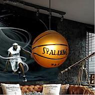 Glass Pendant Cafe Retro Basketball Pendant