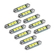 youoklight가 꽃줄 36mm 1w 60lm 3x5050 SMD 60lm 6000-6500k 흰색 빛 LED 전구 자동차 램프 (직류 12V)
