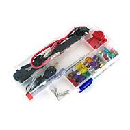 12v bil add-a-kredsløb blad sikring tap adapter atm aps att klinge sikringsholder, 30pcs sikring, sikring aftrækker, wire klemme, wire