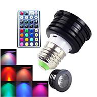 4W E26/E27 תאורת ספוט לד MR16 1 לד בכוח גבוה 300 lm RGB דקורטיבי / עמעום / עובד עם שלט רחוק AC 100-240 V חלק 1