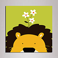 Mini Size Cartoon lion Painting Canvas Print One Panel Framed art