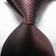 Pruhy-Kravata(Hnědá,Polyester)