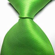 New Solid Spring Green Checked JACQUARD WOVEN Men's Tie Necktie TIE2038