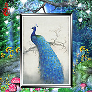 diy Diamant Stickerei Mosaik Pfau Seele runden Diamant-Malerei Kreuzstich Kits reichen Blumen Hauptdekoration