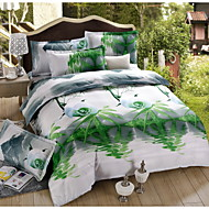 Baolisi 3D Fashion Comfortable Print Bedding Four Piece Comforter Set Queen Size