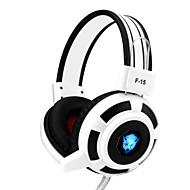 Yoro f15 ruido estéreo de auriculares para juegos que cancela con micrófono&control de volumen llevó luces para PC / notebook /