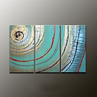 pintura al óleo abstracta moderna pintada a mano, lona tres paneles
