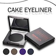 Vermelho Preto Lápis de Olho Creme Longa Duração / Impermeável Preta / Marrom / Roxa / Azul