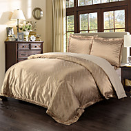 Yarn Dyed Poly Silk Bamboo cotton Jacquard Bedding Set Water Drop 1 duvet cover and 2pillow case