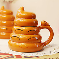 1PC Creative Whimsy Gold Poop Cup Two Thousand Ceramic Personality Cup (Random Style)
