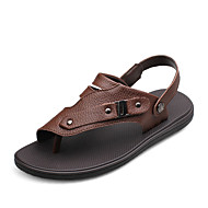 Men's Shoes Outdoor / Casual Nappa Leather Sandals Brown / Orange