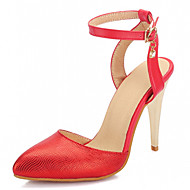Women's Shoes Leatherette Stiletto Heel Heels Heels Wedding / Office & Career / Party & Evening Black / Red / Gold