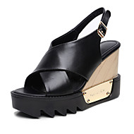 Women's Shoes  Wedge Heel Wedges / Peep Toe / Platform / Slingback Sandals Outdoor / Dress (cowhide)