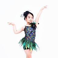 Dresses Women's / Children's Performance Spandex / Organza / Sequined Ruffles / Sequins Sleeveless Natural