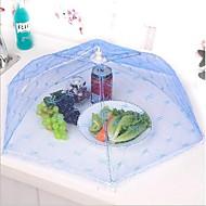 guarda-chuva dobráveis cozinha festa de cobertura de armazenamento de alimentos da tabela de malha rendas armação de metal cor aleatória