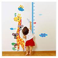 SK9002  Cartoon animal Measuring Height Wall Stickers Removable Wallpaper Children Kid Room Living Bedroom
