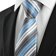 New Striped Blue Grey Classic Men's Tie Necktie Wedding Party Holiday Gift #1025