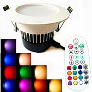 9W לד  Downlights 18PCS SMD 5730 650 lm לבן חם / לבן קר / לבן טבעי / RGB עמעום / מופעל על ידי קול / עובד עם שלט רחוק / דקורטיבי AC 100-240