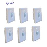 Jiawen 6pcs / lot optisch gesteuerte LED-menschlichen Körper induktiven Bewegungssensor Wandschalter