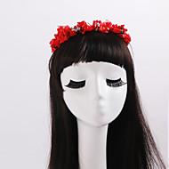 Dame / Blomsterpige Rhinestone / Tyll / Imitert Perle / Stoff Headpiece Bryllup / Spesiell Leilighet / Avslappet / Utendørs Kranser