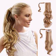 Fita ondulada de ponytail sintética natural / morango com rabo de pônei sintético em rabo de cavalo 40-65 cm de grama