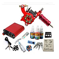 Basekey Tattoo Kit JH552  1 Machine With Power Supply Grips 3x10ML Ink