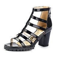 Women's Shoes Chunky Heel Heels / Gladiator Sandals Party & Evening / Dress / Casual Black / White / Silver / Bronze