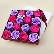 Birthday Wedding Holiday Day Gift Romantic 16pcs  Rose Soap Flowers Box