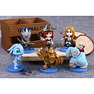 Figure LOL Doll Animation Hero Alliance 5 Generation Version of Q Gift Boxed 6PC 8cm