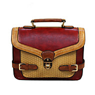 GG Retro Fashion College Wind Portable Shoulder Messenger PU Women's Bag