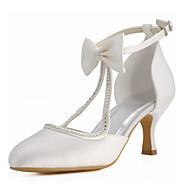 Women's Wedding Shoes Heels / Round Toe Heels Wedding / Party & Evening / Dress Ivory