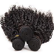 4Bundles 8-26inch Brazilian Virgin Hair Deep Curly Color 1B# Unprocessed Raw Virgin Human Hair Weaves